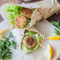 Easiest Lemon Tahini Falafel Wrap