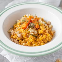 Farro Risotto with Pumpkin and Chestnuts