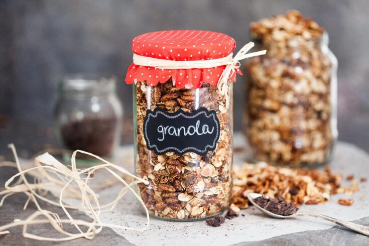 Healthy Dark Chocolate Breakfast Granola