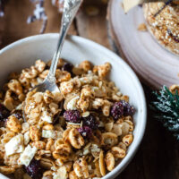 Honey Roasted Cranberry Granola with White Chocolate