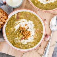 Split Pea Minestrone Soup
