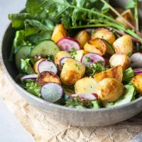 Spring Potato Salad with Balsamic Vinaigrette {Vegan}