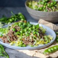 Spring Green Soba Noodle Salad {Vegan}
