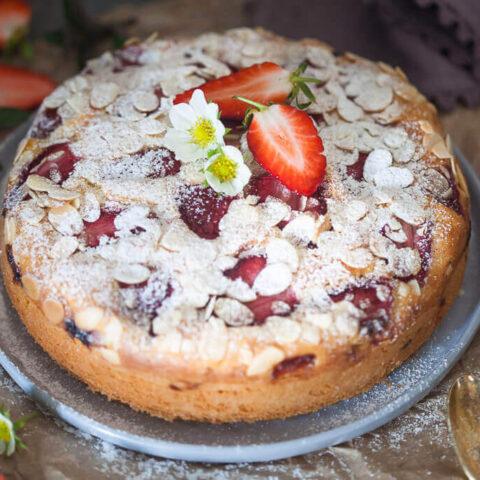 Strawberry Yogurt Cake {Dairy-Free}