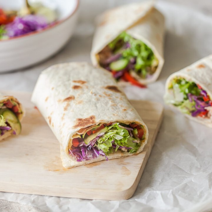 Easy Grilled Veggies Tortilla Wraps