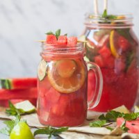 Mint Cucumber Watermelon Lemonade
