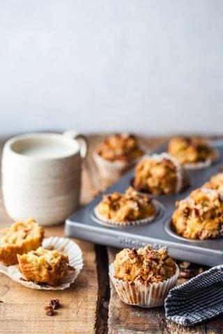 Carrot Cake Apple Breakfast Muffins