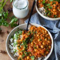 Chickpea Lentil Coconut Curry {Vegan, Gluten-Free}