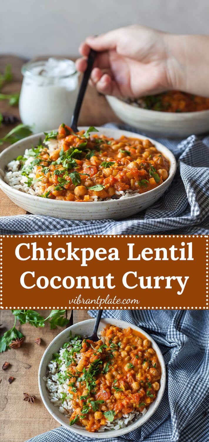 Chickpea Lentil Coconut Curry