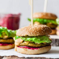 Vegan Hummus Chickpea Burger