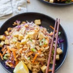 Vegan Pad Thai in Peanut Sauce with Tofu