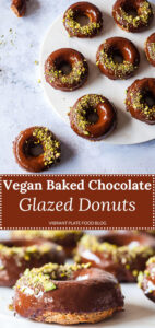 Vegan Baked Chocolate Glazed Donuts
