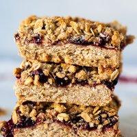 Aronia Oatmeal Crumble Bars {Vegan}