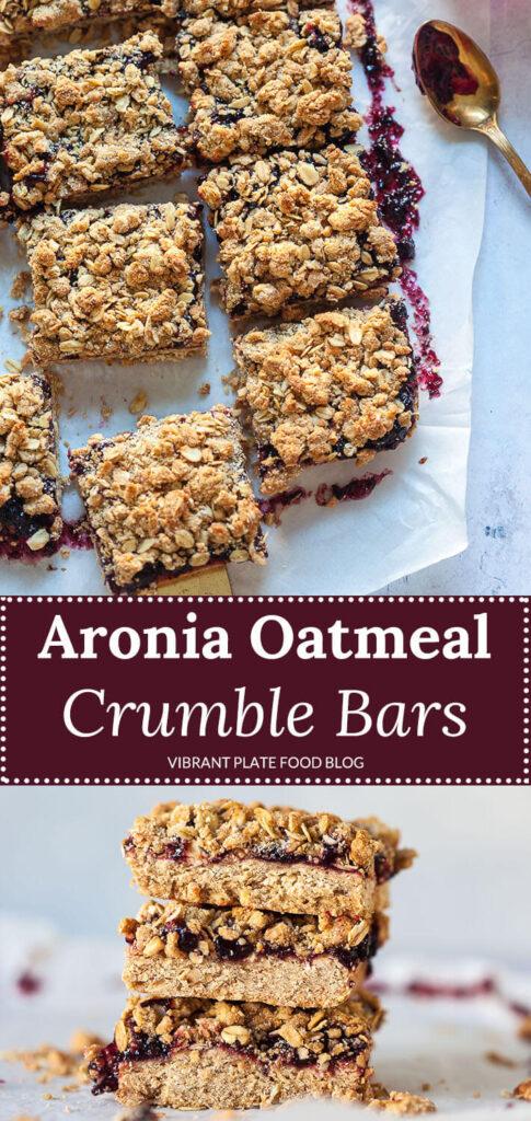 Aronia Oatmeal Crumble Bars
