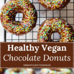 Healthy Vegan Chocolate Donuts