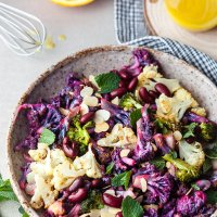 Winter Purple Cauliflower Salad {Vegan}