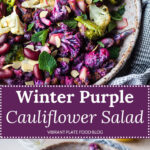 Winter Purple Cauliflower Salad
