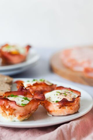 Baked Ham and Eggs Cups