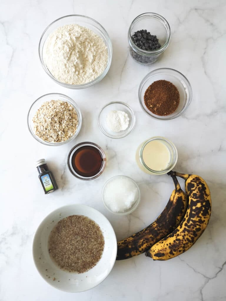 vegan chocolate chip banana bread ingredients