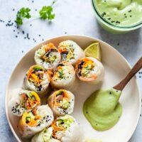Fresh Sushi Spring Rolls {Vegan}
