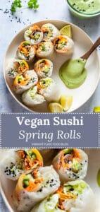 Vegan Fresh Sushi Spring Rolls
