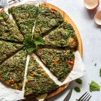 Spring Herb Egg Frittata {Low-Carb, Gluten-Free}