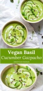 Vegan Basil Cucumber Gazpacho