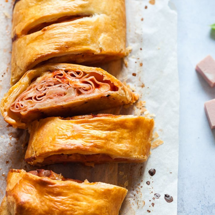 Mortadella Pizza Roll
