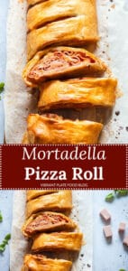 Mortadella Pizza Roll