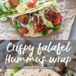 Crispy Falafel Hummus Wrap
