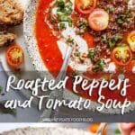 Roasted Red Peppers and Tomato Soup
