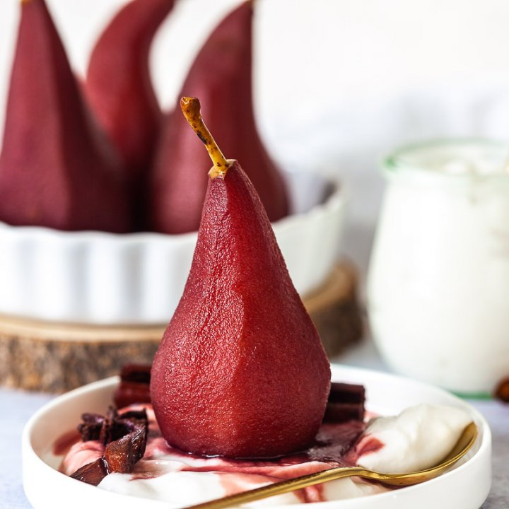 Spiced Red Wine Poached Pears