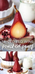 Spiced Red Wine Poached Pears loongpin