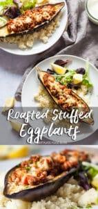 Roasted Stuffed Eggplants