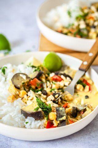 Vegan Coconut Eggplant Curry