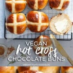 Vegan Hot Cross Chocolate Buns