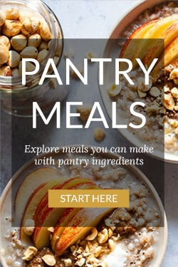 Collection of pantry meal recipes