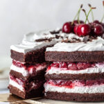 Vegan Black Forest Naked Cake