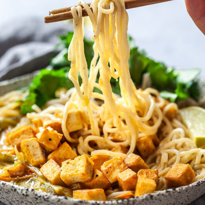 Easy Vegan Tofu Curry Ramen