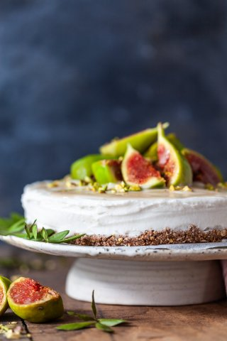 Salted Caramel Fig Vegan Cake