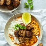 Lentil Meatballs in Curry Sauce