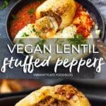 Vegan Lentil Stuffed Peppers