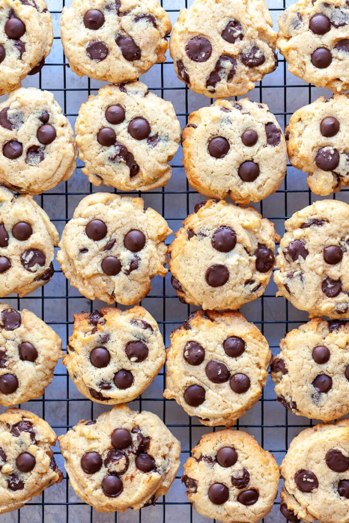 Vegan Chocolate Chip Cookies Flatlay