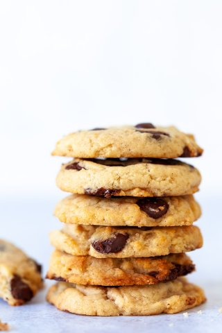 Vegan Chocolate Chip Cookies Stack