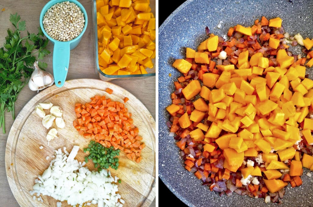 Pearl Barley and Pumpkin Risotto Ingredients