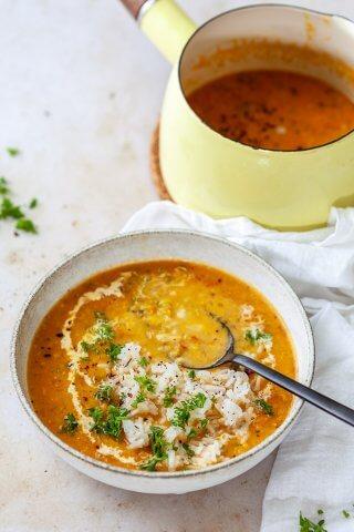 Vegan Red Lentil Curry Soup