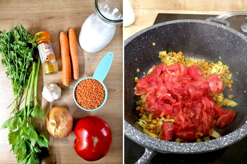 Vegan Red Lentil Curry Soup Cooking Instructions
