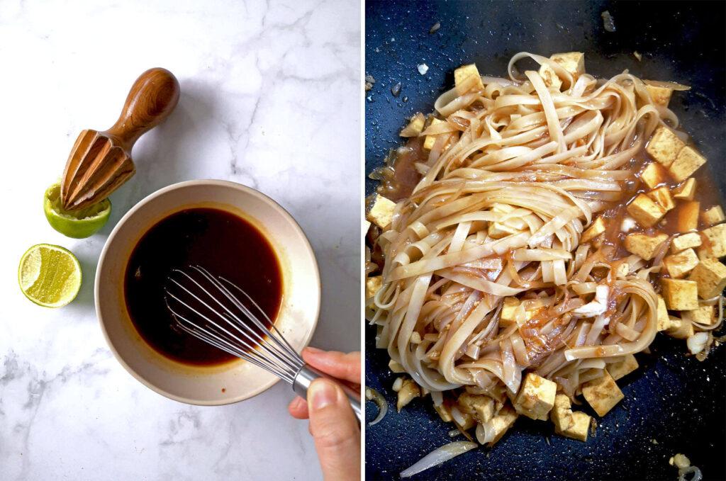 Easy Vegan Pad Thai Process