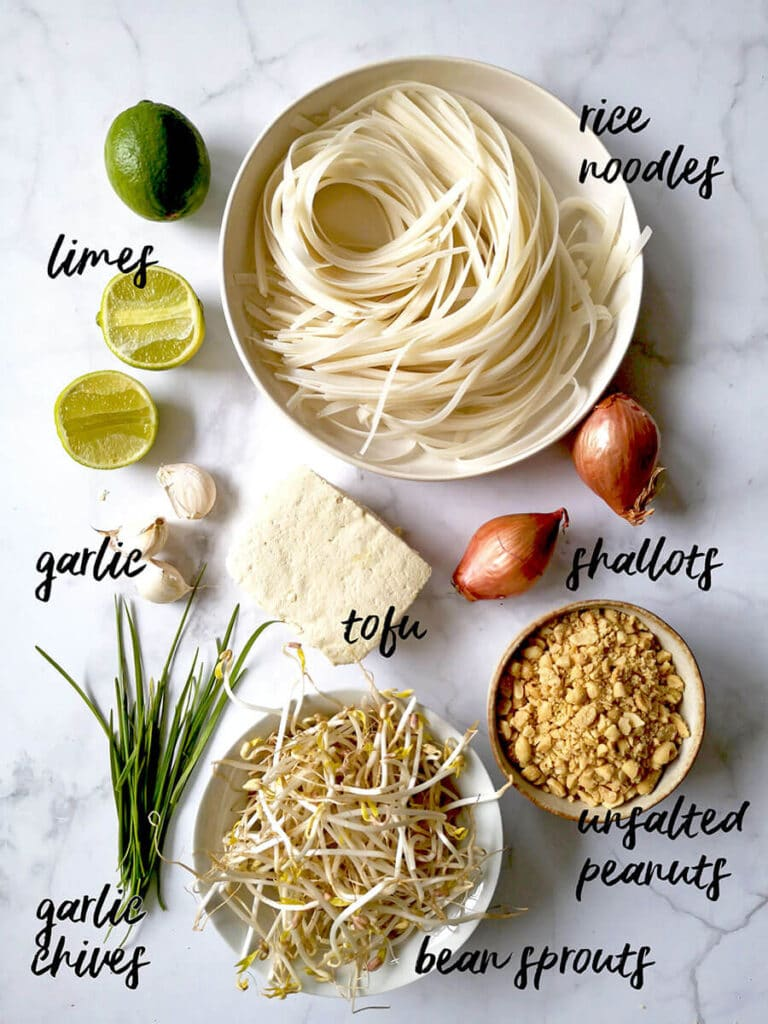 Easy Vegan Pad Thai Ingredients List