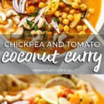 Chickpea and Tomato Coconut Curry